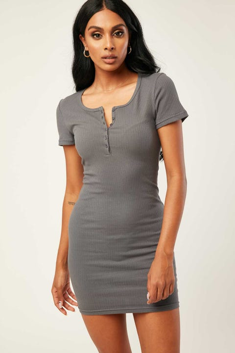 L&t Devon Dress Charcoal