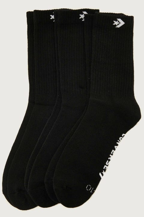 Converse Crew Sock 3 Pack Black