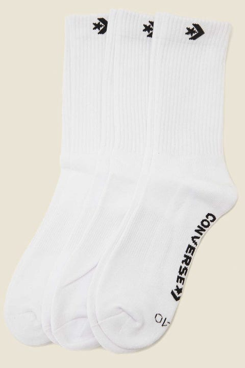 CONVERSE Crew Sock 3 Pack White