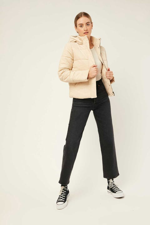 ALL ABOUT EVE Cali Cord Puffer Cream