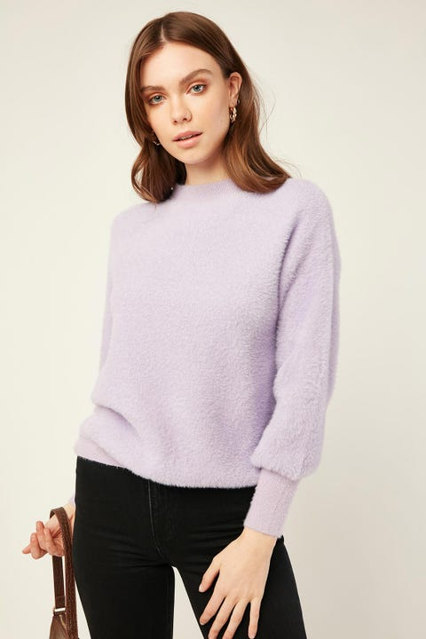 Luck & Trouble Soft Touch Sweater Lilac