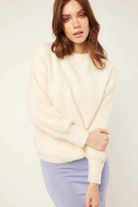 LUCK & TROUBLE Soft Touch Sweater White