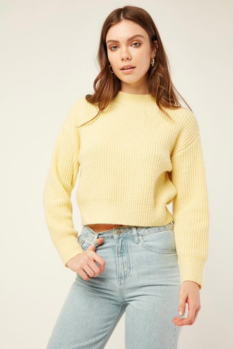 LUCK & TROUBLE Stay Together Knit Sweater Yellow