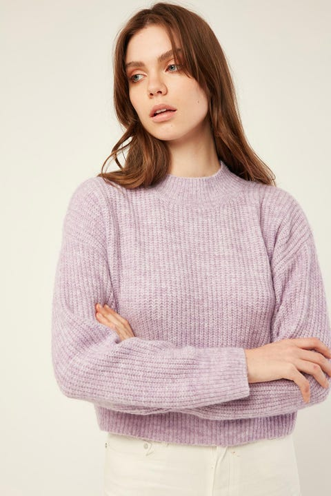 LUCK & TROUBLE Stay Together Knit Sweater Lilac