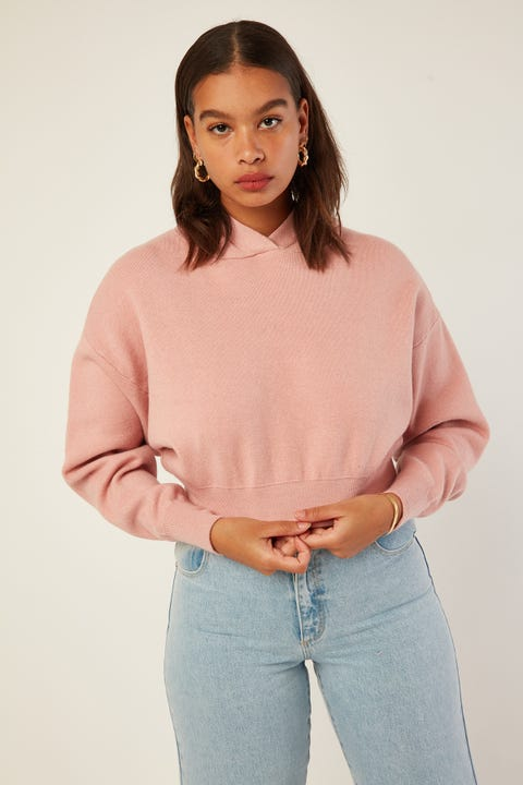 LUCK & TROUBLE Kayla Knit Jumper Pink