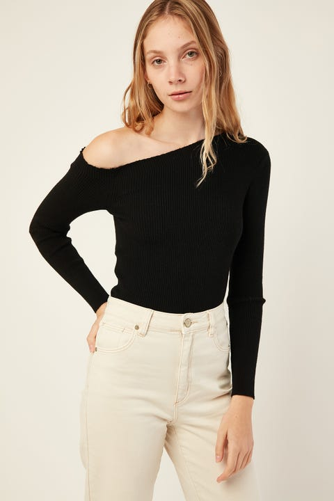 LUCK & TROUBLE Maia Longsleeve Knit Black