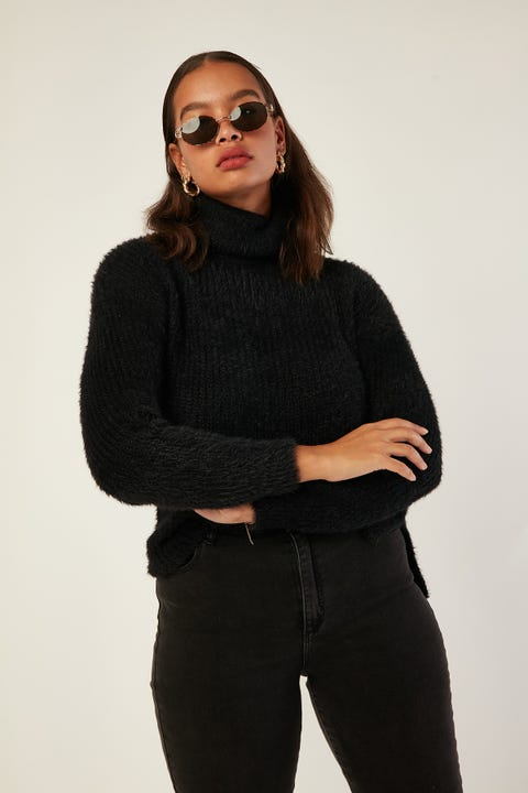 ALL ABOUT EVE Amour Knit Black