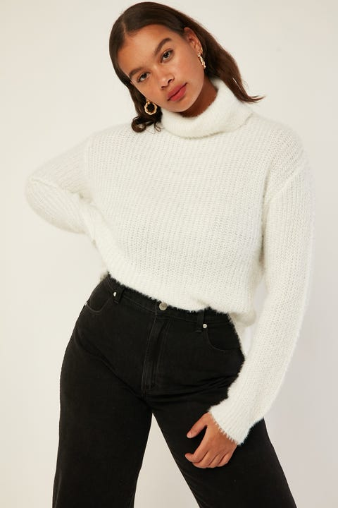 ALL ABOUT EVE Amour Knit White