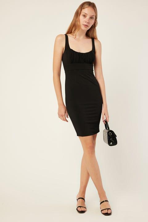 Here Comes The Sun Rosa Mini Dress Black