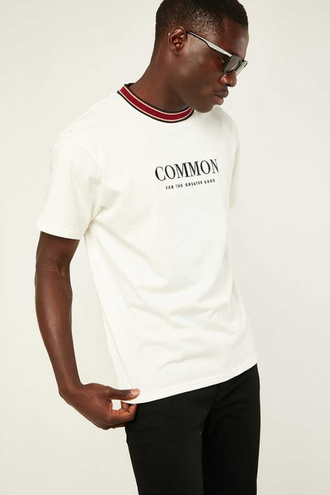 COMMON NEED Bell Ringer Tee White