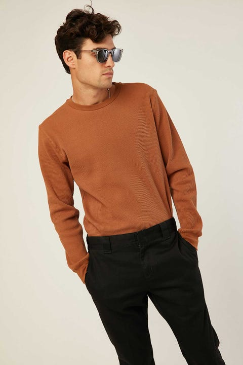 Common Need Comfort Longsleeve Tee Brown