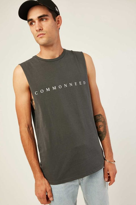 COMMON NEED Twitch Tank Black