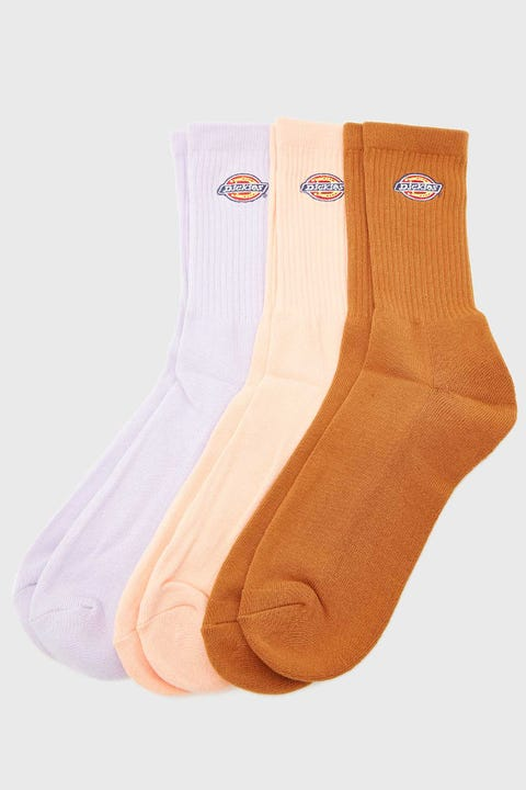 Dickies H.S Rockwood Crew Socks 3 Pack Lilac/Lincoln/Duck