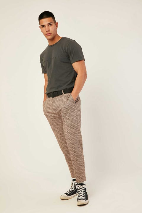 Common Need Richmond Pant Brown Check