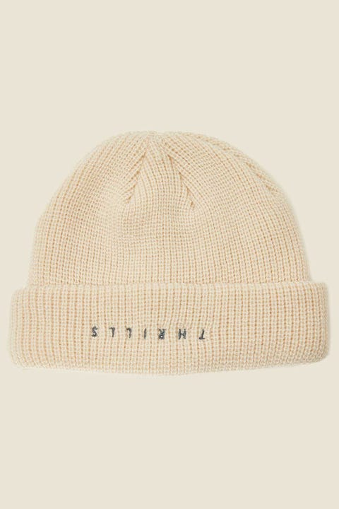 THRILLS Minimal Beanie Thrift White