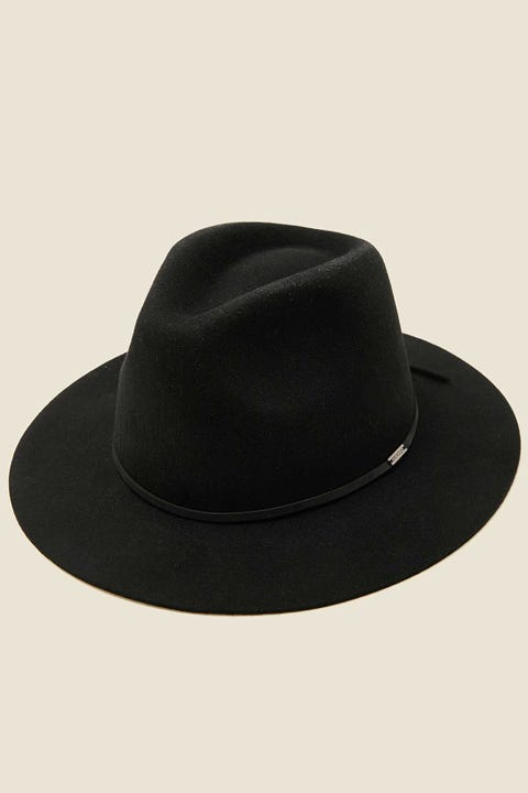 BRIXTON Wesley Fedora (Adjustable) Black/Black