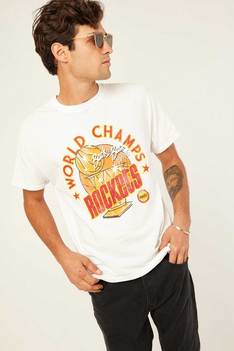 Mitchell & Ness Houston Rockets World Champs SS Tee WHITE