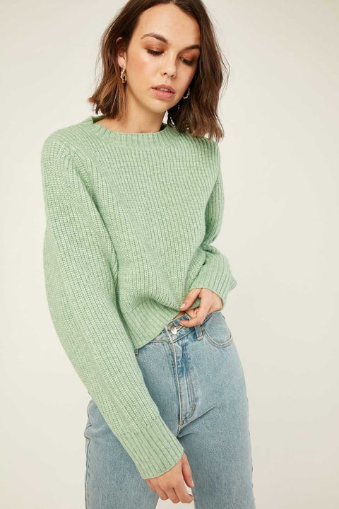 PERFECT STRANGER Marley Crew Knit Pistachio