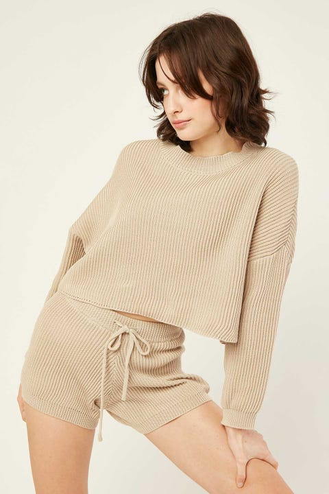Perfect Stranger Cuddle Up Knit Oat