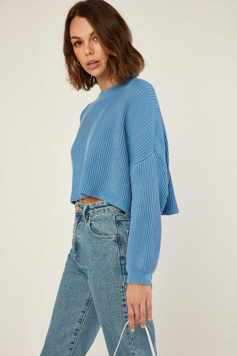 Perfect Stranger Cuddle Up Knit Cornflower Blue