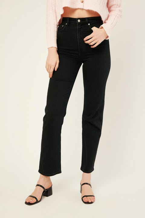 Lee High Straight 80 Bare Black Bare Black