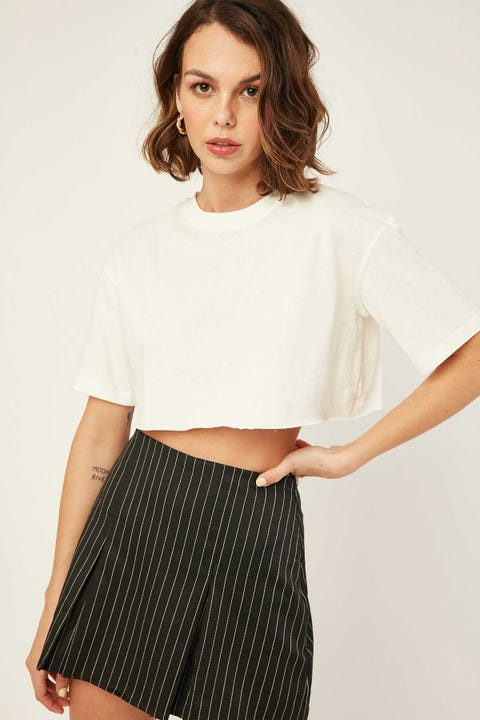L&T Cropped T-Shirt White