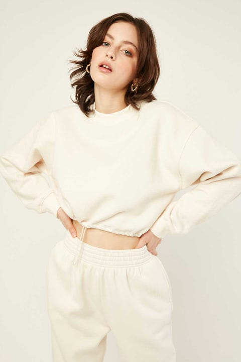 LUCK & TROUBLE Pull Cord Sweater Cream