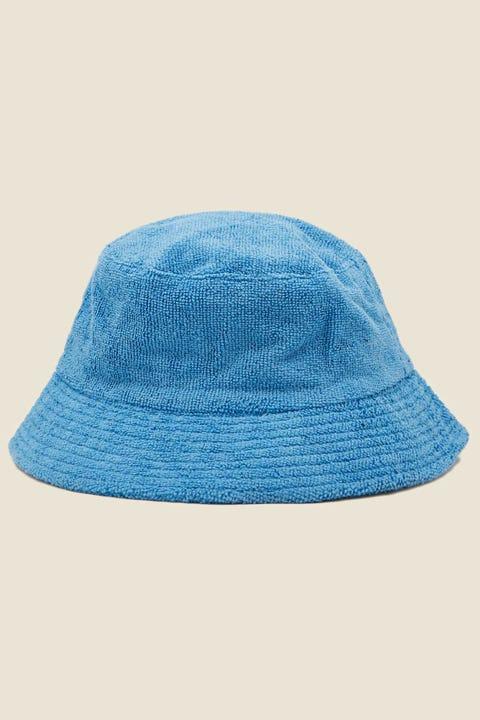TOKEN Terry Towelling Bucket Hat Blue