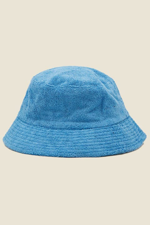TOKEN Terry Towelling Bucket Hat Blue