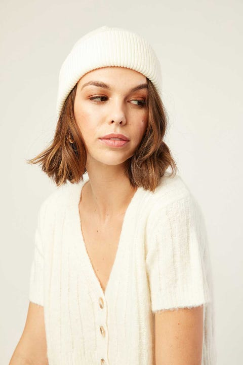 TOKEN Dewy Ribbed Beanie Winter White