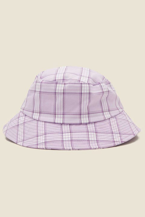 TOKEN Check Bucket Hat Lilac Check