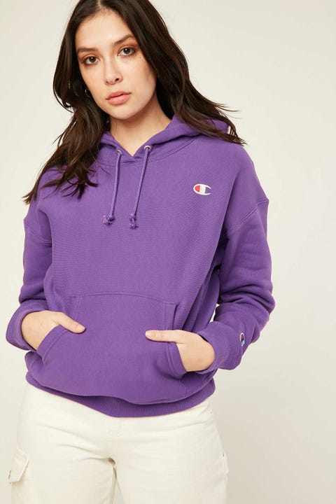 Champion Reverse Weave Hoodie Purple Crush