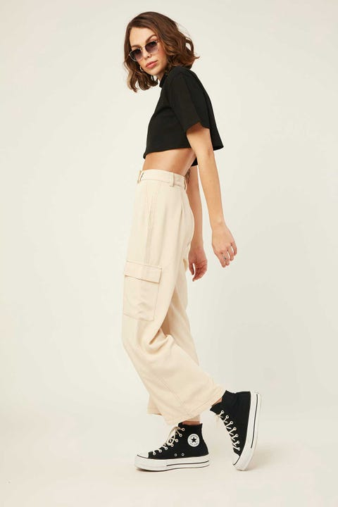 LUCK & TROUBLE Do It Contrast Pant Cream