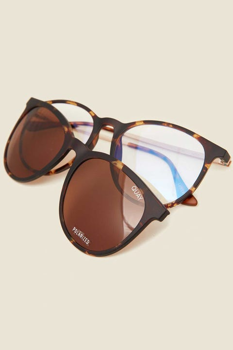 QUAY Great Escape Clip On Tort/Brown