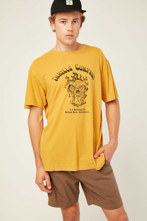 THRILLS Soulfire Merch Fit Tee Mineral Yellow