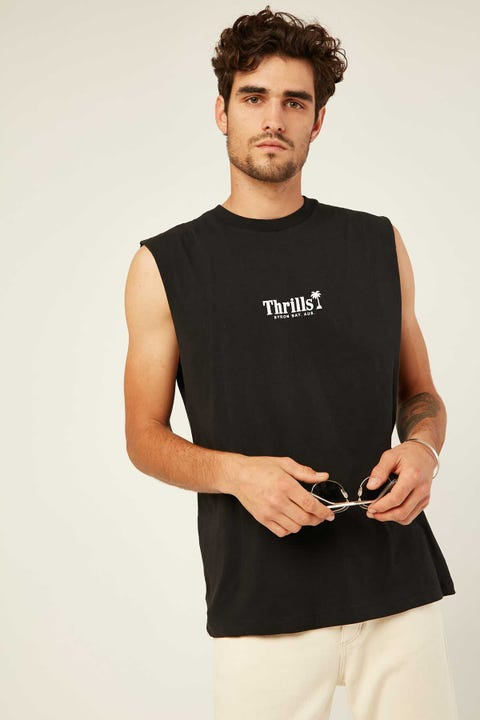THRILLS Palm of Thrills Merch Fit Muscle Tee Black
