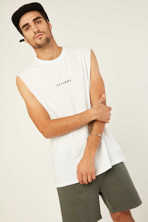 THRILLS Minimal Thrills Merch Fit Muscle Tee White