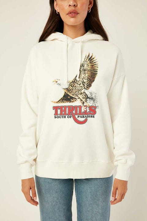 THRILLS Victory Oversized Hoody Dirty White