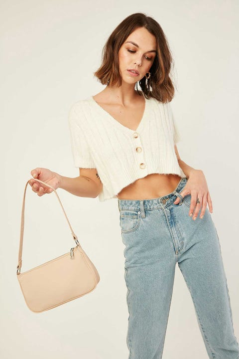 Perfect Stranger Plush Knit Top Winter White