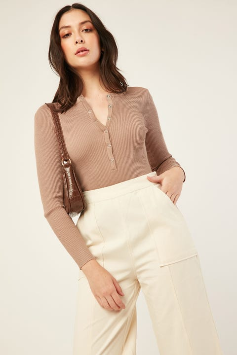 Perfect Stranger Move On Bodysuit Taupe