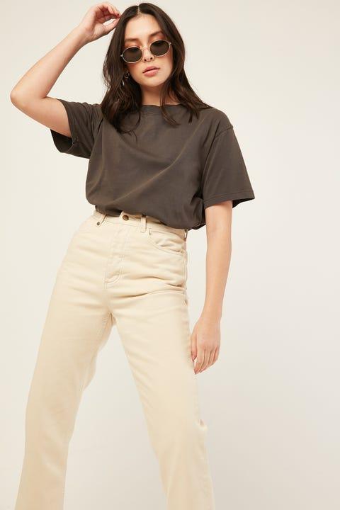 L&T Boyfriend T-Shirt Washed Black