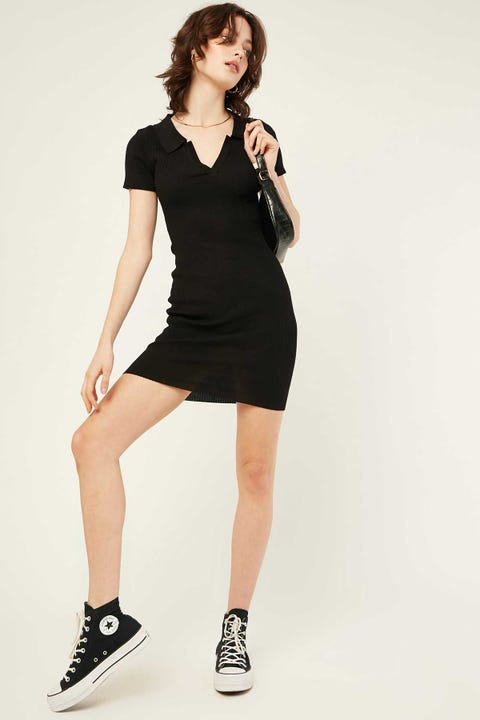 LUCK & TROUBLE Institute Knit Dress Black