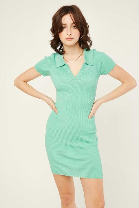 Luck & Trouble Institute Knit Dress Aqua