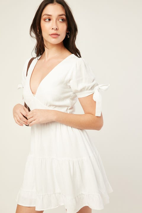 LUCK & TROUBLE Serenity Dress White