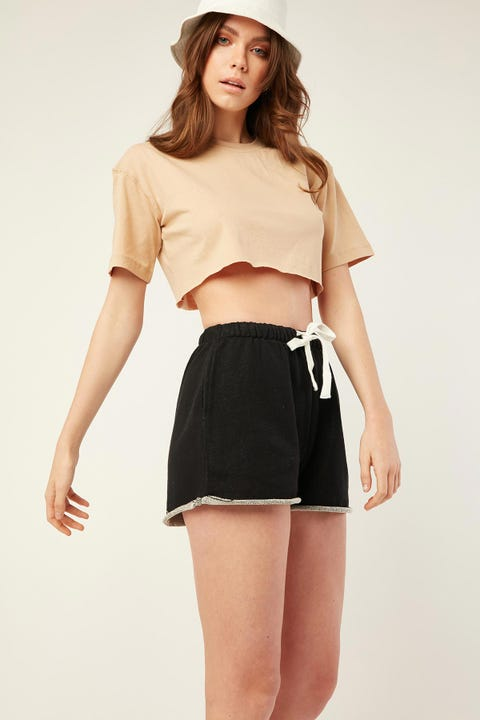 AS COLOUR Perry Track Shorts Black