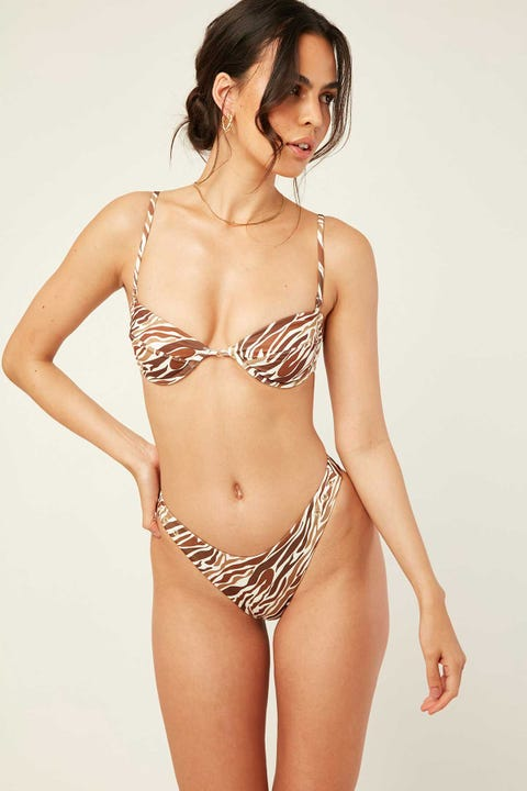 Lahana Swim Poppie Bottom Brown Zebra
