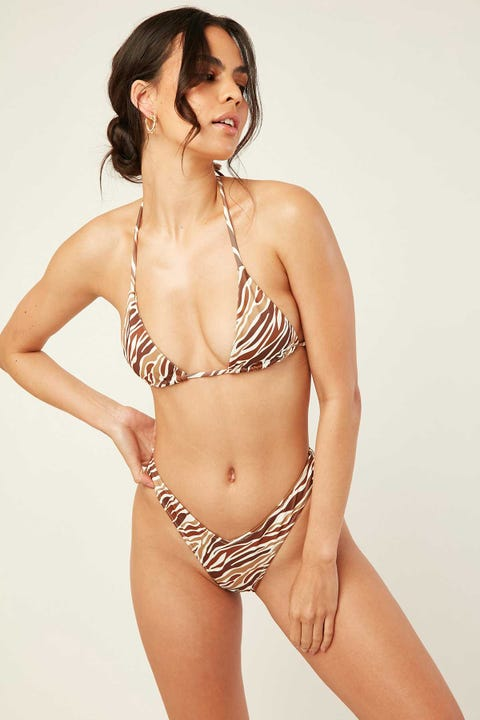 Lahana Swim Remi Top Brown Zebra