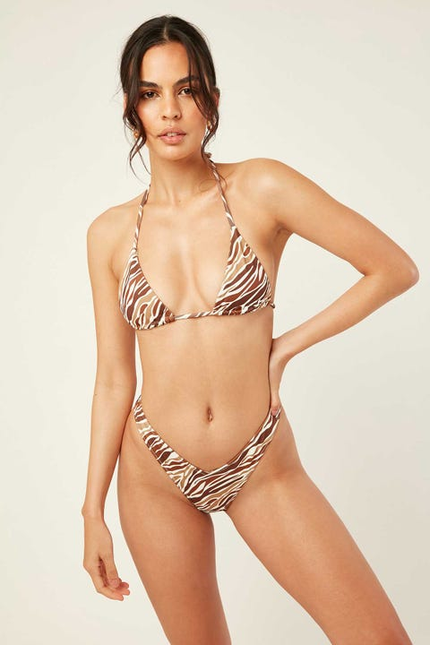 Lahana Swim Remi Bottom Brown Zebra