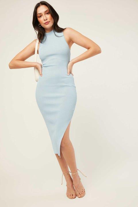 PERFECT STRANGER Cara Midi Dress Cornflower Blue
