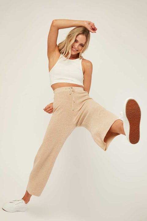 Perfect Stranger Self Care Knit Pant Oatmeal